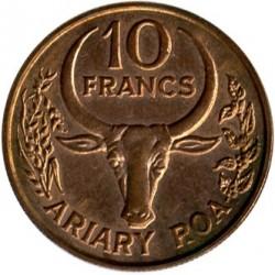 Кованица > 10франака, 1991 - Мадагаскар  - reverse