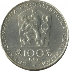Moneta > 100corone, 1981 - Cecoslovacchia  (100° anniversario - Nascita di Otakar Španiel) - obverse
