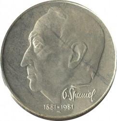 Moneta > 100corone, 1981 - Cecoslovacchia  (100° anniversario - Nascita di Otakar Španiel) - reverse