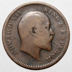 Coin > ¼anna, 1906-1910 - India - British  - obverse
