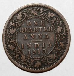 Coin > ¼anna, 1906-1910 - India - British  - reverse
