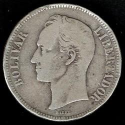 Coin > 5bolívares, 1879-1889 - Venezuela  - reverse