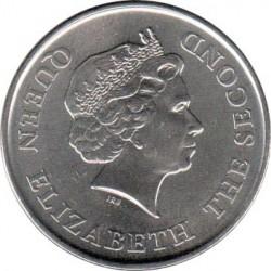 Moneta > 1dollaro, 2008 - Caraibi Orientali  (25° anniversario - Banca centrale dei Caraibi orientali) - obverse