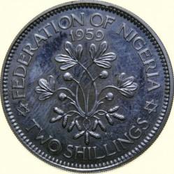 Монета > 2шиллинга, 1959 - Нигерия  - reverse