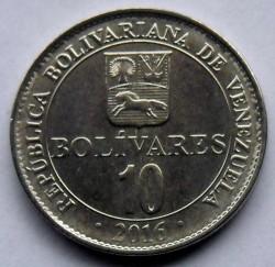 Монета > 10боливаров, 2016 - Венесуэла  - obverse