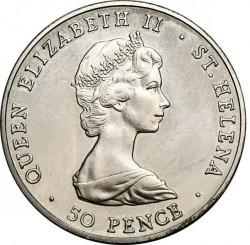العملة > 50بنس , 1984 - سانت هيلينا  (150th Anniversary - Colony of Saint Helena) - obverse