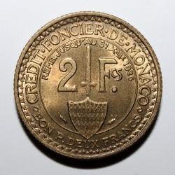 Moneta > 2franki, 1924 - Monako  - reverse