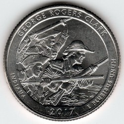 Coin > ¼dollar, 2017 - USA  (George Rogers Clark National Historical Park) - reverse