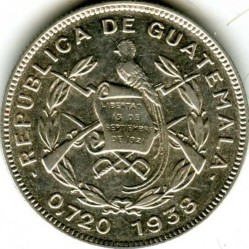 Moeda > 10centavos, 1938 - Guatemala  - obverse