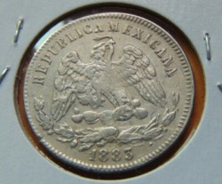 Moneta > 25centavos, 1869-1892 - Meksyk  - obverse