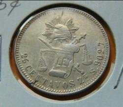 Moneta > 25centavos, 1869-1892 - Meksyk  - reverse