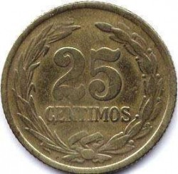 Монета > 25сентимів, 1944 - Парагвай  - obverse