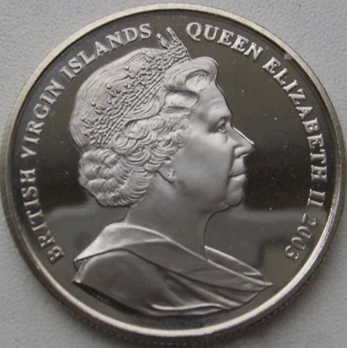 1 Dollar 2003 John F Kennedy Britischen Jungferninseln Münzen