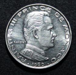 1 Franc 1960 Monaco Valeur Piece Ucoin Net