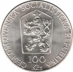 Moneta > 100corone, 1989 - Cecoslovacchia  (Eventi del 17 settembre 1939) - obverse