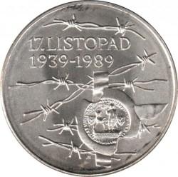Moneta > 100corone, 1989 - Cecoslovacchia  (Eventi del 17 settembre 1939) - reverse