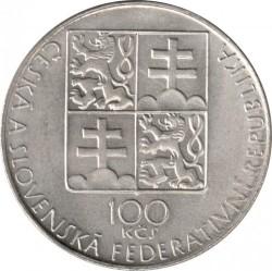 Moneta > 100corone, 1990 - Cecoslovacchia  (100° anniversario - Nascita di Bohuslav Martinů) - obverse