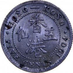 Mynt > 5cents, 1903-1905 - Hong Kong  - reverse