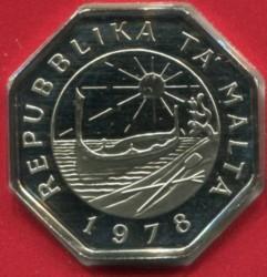 Монета > 25центов, 1976-1981 - Мальта  - obverse
