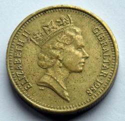 Coin > 1pound, 1988-1997 - Gibraltar  - obverse
