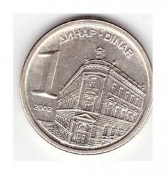 Монета > 1динар, 2000-2002 - Югославия  - obverse