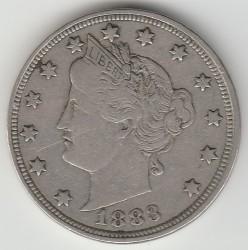 """Moneda > 5centavos, 1883 - Estados Unidos  (Liberty Nickel, without """"CENTS"""") - obverse"""