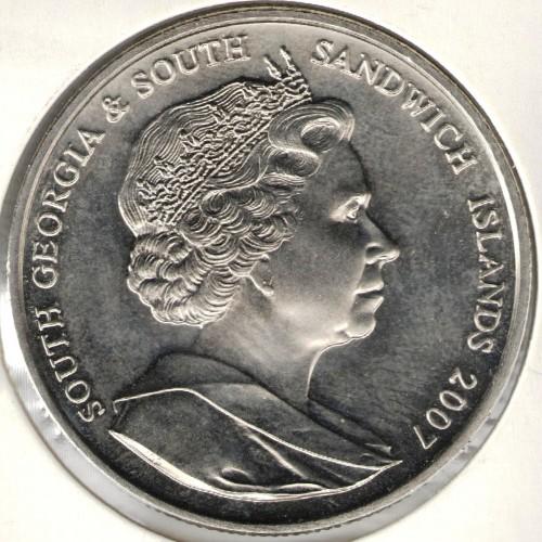 2 Pfund 2007 Elisabeth Ii Süd Georgien Münzen Wert Ucoinnet