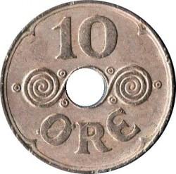 Monedă > 10ore, 1941 - Insulele Feroe  - reverse