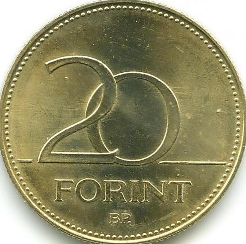 Nowa kolekcja szczegółowy wygląd sprzedawane na całym świecie 20 forintów 2012-2019, Węgry - Cena monety - uCoin.net