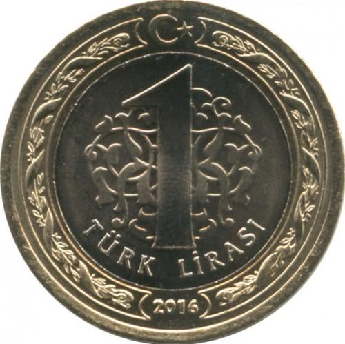 Turkey Commemorative Coin 1 LIRA 2016 UNC