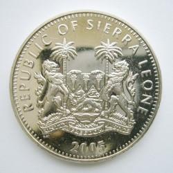 Moneta > 1dollaro, 2005 - Sierra Leone  (Animali - Giraffa) - obverse