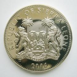 Pièce > 1dollar, 2006 - Sierra Léone  (Animaux - Chimpanzé) - obverse