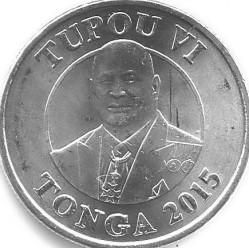 Coin > 10seniti, 2015 - Tonga  - obverse
