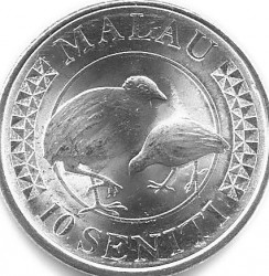 Coin > 10seniti, 2015 - Tonga  - reverse