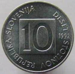 Moneta > 10stotinov, 1992-2006 - Slovenia  - obverse