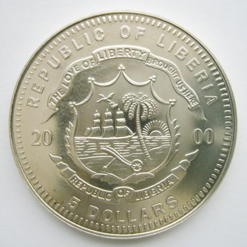 5 Dollars 2000 German Mark Liberia