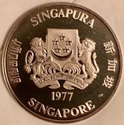 Moneta > 10dollari, 1976-1977 - Singapore  (10° anniversario dell'indipendenza) - obverse