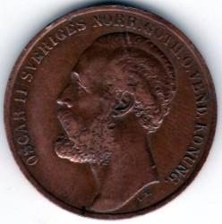 Монета > 5йоре, 1873 - Швеция  - obverse