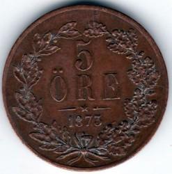 Монета > 5йоре, 1873 - Швеция  - reverse