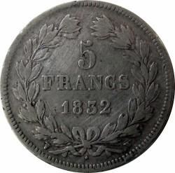 Moneta > 5franchi, 1832-1848 - Francia  - reverse
