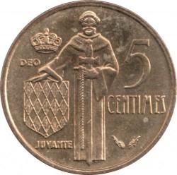 Moneta > 5santimai, 1976-1995 - Monakas  - reverse