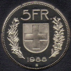 Moneta > 5franków, 1988 - Szwajcaria  - reverse