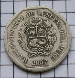 Monēta > 1jaunaissols, 2001-2011 - Peru  - reverse