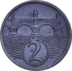 Кованица > 2хелера, 1923-1925 - Чехословачка  - reverse