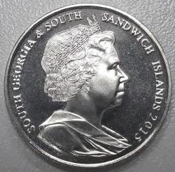 سکه > 2پوند, 2015 - گرجستان جنوبی  (30th Anniversary - Coat of Arms) - obverse