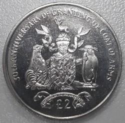 سکه > 2پوند, 2015 - گرجستان جنوبی  (30th Anniversary - Coat of Arms) - reverse