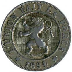 Minca > 10centimes, 1894-1901 - Belgicko  (Legend in French - 'DES BELGES') - obverse