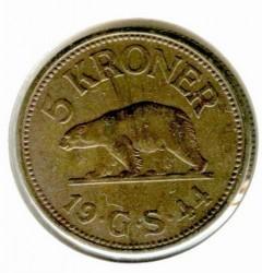Монета > 5крон, 1944 - Гренландія  - obverse