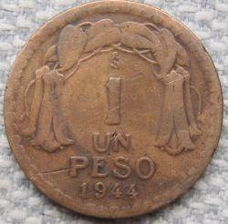 Münze > 1Peso, 1944 - Chile  - reverse