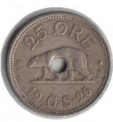 Moneda > 25ore, 1926 - Groenlandia  (Forma: redonda con agujero) - obverse